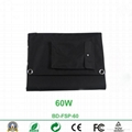 60W waterproof foldable solar panel charger for laptop and mobile phones 2