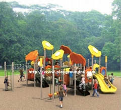 Plastic slide playground