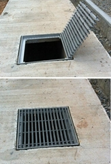 FRP Drain Cover Grating with Frame and Hinge