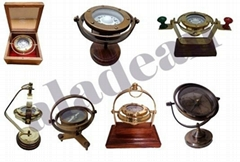 Antique Brass Gimbaled Compass on sale at aladean