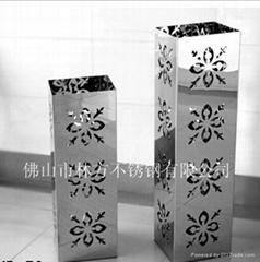 鏤空雕花不鏽鋼干花花瓶