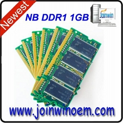China motherboards ram memory 64mb*8 ddr1 1gb laptop with ETT chips