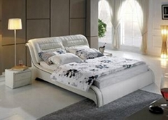 2014 latest design leather beds