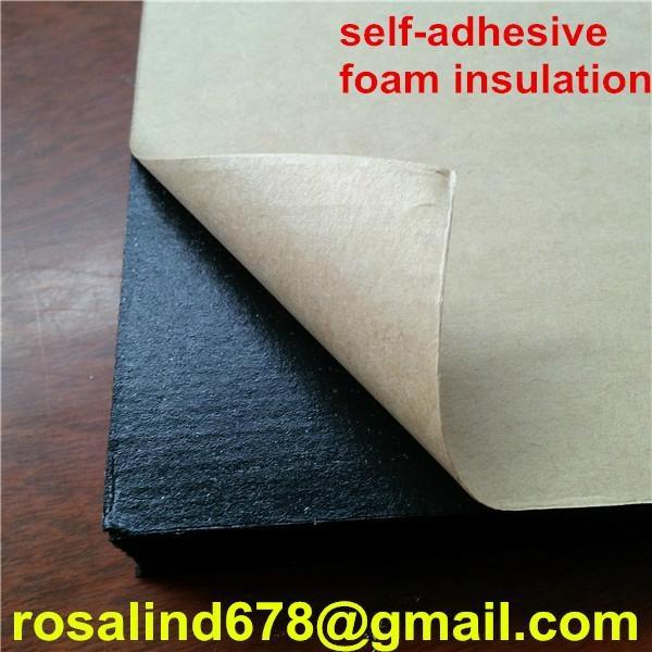 Nbr Pvc Self Adhesive Self Seal Air Duct Rubber Foam