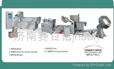 Crispy rice processing line 1