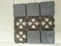 黑色瓷砖地垫