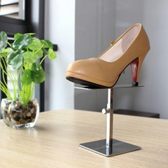 Stainless steel shoes display stand
