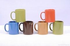 Glazed ceramic cup