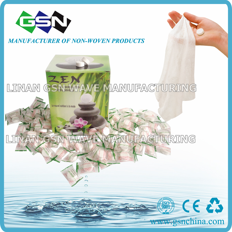 compressed non-woven paper napkin magic towel coin tablet tissue  1