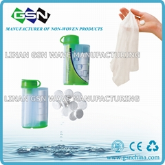 Dispenser coin tissue magic handkerchief  compressed napkin
