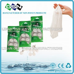 biodegradable cotton paper tissue towel compressed tablet napkin