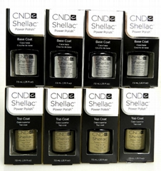 CND Shellac Nail UV Gel (Base Coat .25 oz & Top Coat .25oz)