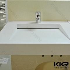 Italian Design Artificial Stone Rectangle Bathroom Wash Basin