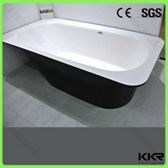 Freestanding bathtub solid surface red bathtub 1 person hot tub