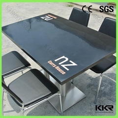 modern home design high glossy solid surface dinning table
