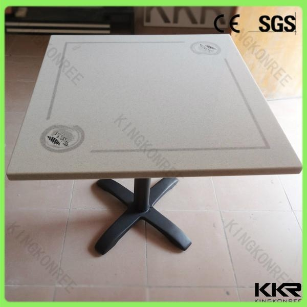 modern home design high glossy solid surface dinning table 3