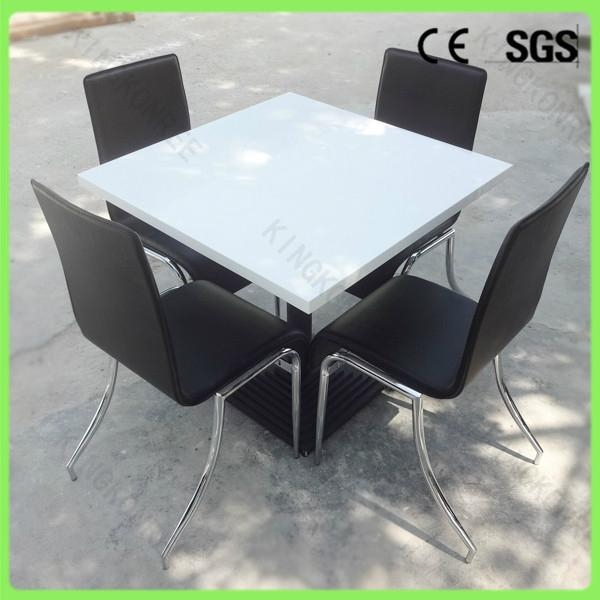 modern home design high glossy solid surface dinning table 4