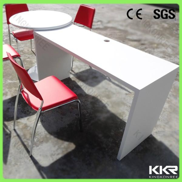 modern home design high glossy solid surface dinning table 5