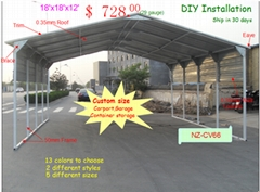 20'x20' Vertical Roof Carport