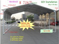 20'x20' Vertical Roof Carport