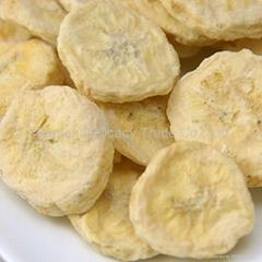 Wholesale Freeze Dried Fruit Bulk Banana Slices from China