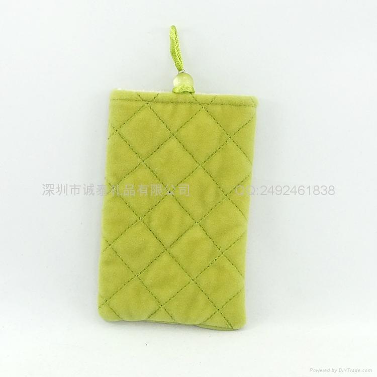 束口绒布手机袋 3