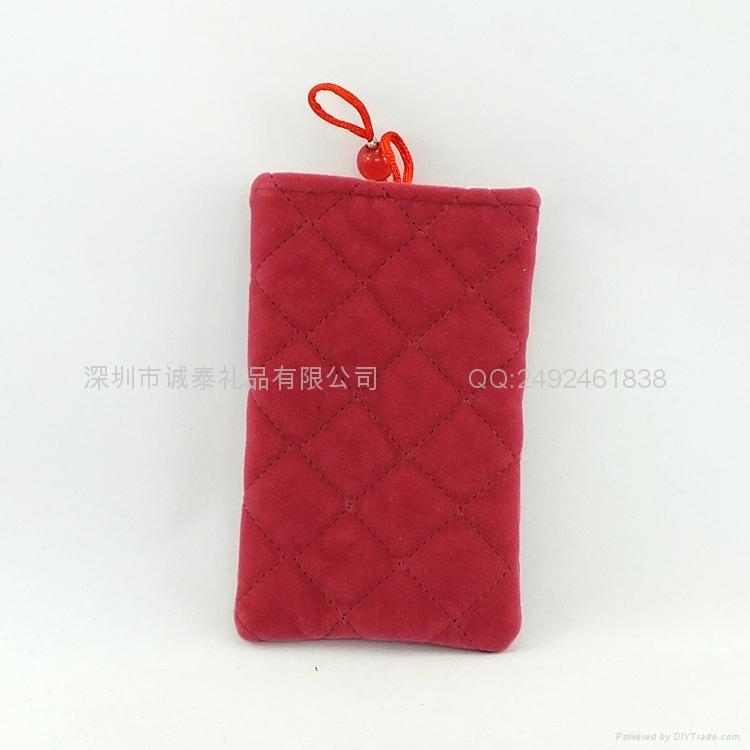 束口绒布手机袋 5