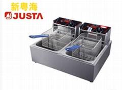 新粵海EF-82雙缸雙篩商用電炸爐