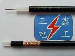 安防線監控線視頻線75-5(5C-2V)國標無氧銅芯銅網