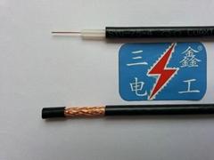 同軸電纜視頻線RG-59(75-4)96編國標無氧銅芯銅網