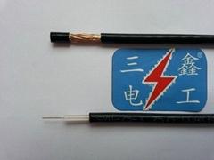 同軸電纜視頻線75-3(3C-2V)64編國標無氧銅芯銅網