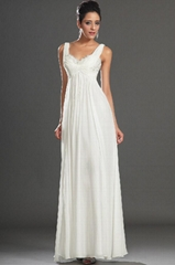Chiffon white party evening dresses