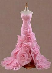 Pink organza prom dresses wedding dresses