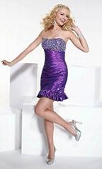 Knee-length taffeta cocktail dresses