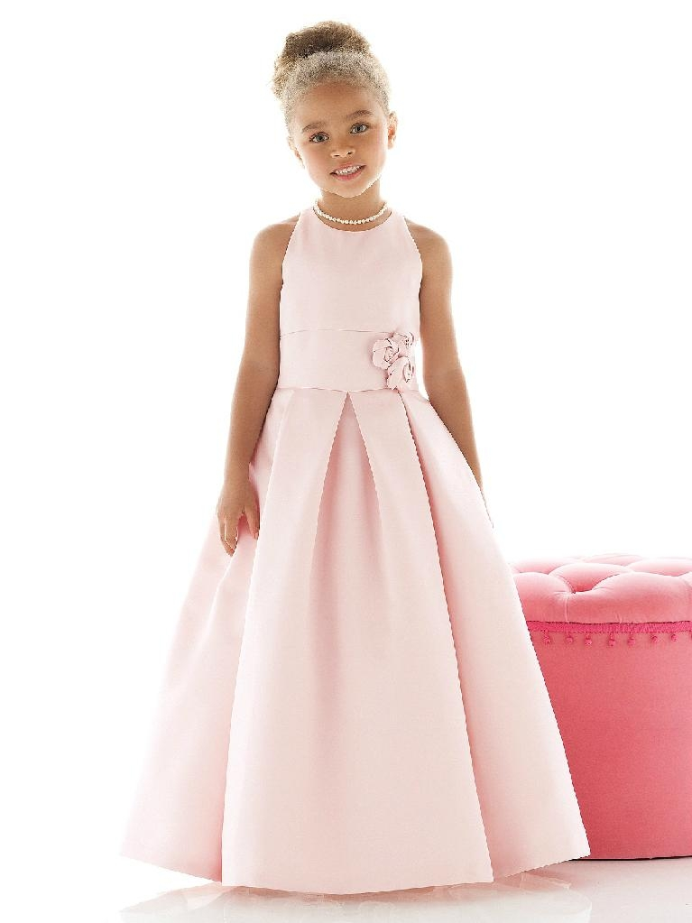 Satin flower girl dresses little girl dresses 1