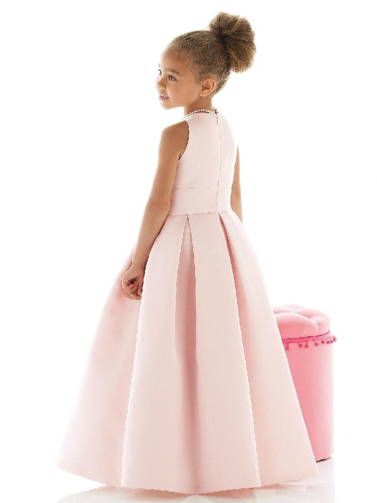 Satin flower girl dresses little girl dresses 2
