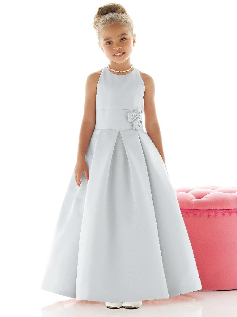 Satin flower girl dresses little girl dresses 3