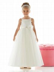organza full length flower girl dresses