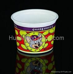 Ice cream dessert cup in PP plastic material