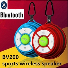 pocket Mini Portable Bluetooth Speaker with TF Card Reader & Hook wireless Outd