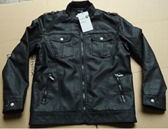 Fashionable Men's Pu leather Jacket