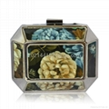Oil Painting Metal Evening Bag W13037