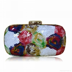 Colorful Flower Sequined Evening Bag 16973
