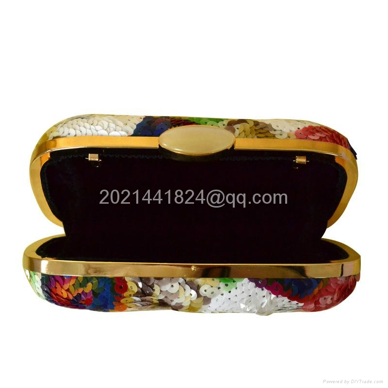 七彩花朵珠片亮片晚宴包16973 5