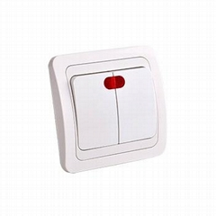 european 2 gang wall switch with light