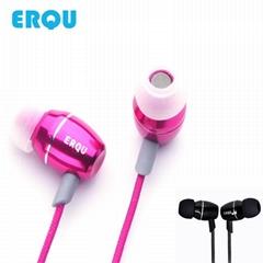 ERQU正品牌苹果专用iphone带麦线控入耳式耳机金属活塞重低音耳机
