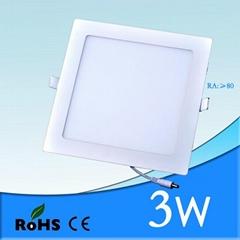 Hot selling 3w suspended ceiling light panels & led panel lights