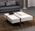 White high gloss MDF coffee table 1