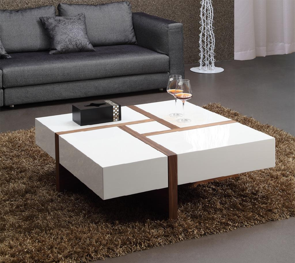 White High Gloss Mdf Coffee Table 003 Bona China Manufacturer Living Room Furniture