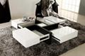 White high gloss MDF coffee table 2